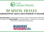 Artykuł o Grupie Why Not TRAVEL na łamach magazynu Businesswoman - wczasy, urlopy, wakacje